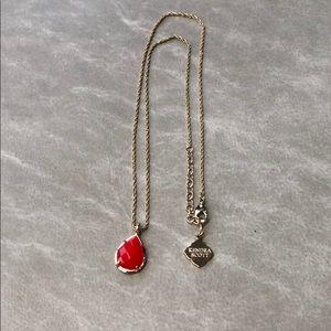 "Kendra Scott red stone pendant necklace 20"""